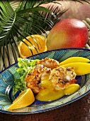 Prawns with mango sauce