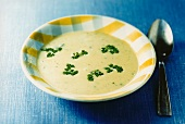 Leek soup with chervil