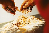 Making crumble topping