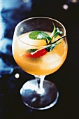 Exotic rum and ginger cocktail with chilli