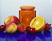 Orange and peach jelly