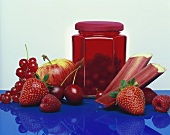 Redcurrant and strawberry jelly