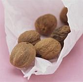 Nutmegs in paper bag