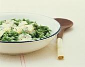 Spinach spaetzle with Gorgonzola