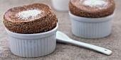 Espresso and chocolate soufflés
