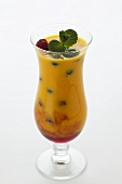 Mango soya drink with berries
