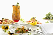 Spring brunch: avocado tartare, smoked salmon, mango drink