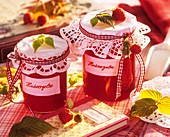 Home-made raspberry jelly