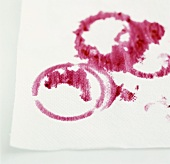 Fruit pudding stains on paper towel