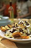 Radish salad with toasted bread