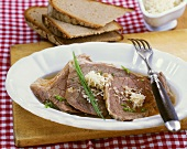 Tellerfleisch (boiled beef) with horseradish and chives