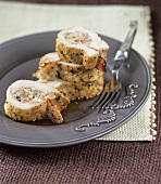 Turkey roulade with ham filling