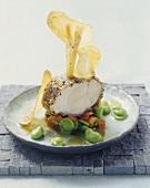 Coda di rospo alla catanese (Olive-crusted monkfish)