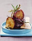 Melanzane caramellate (Caramelised aubergine slices)