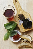 Zutaten zum Färben oder Aromatisieren von Nudelteig