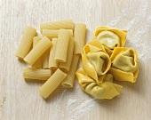 Rigatoni and tortellini