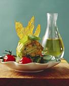 Fiori di zucchini ripieni (Stuffed courgette flowers, Italy)