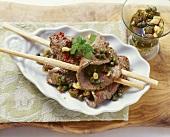 Straccetti ai capperi (Beef with caper vinaigrette)