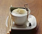 Vellutata di finocchi (Fennel foam soup with grissini)