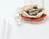 Sarde su bietole (sardines on chard), Liguria, Italy