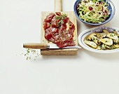 Carne salada (raw beef salad), Trentino, Italy