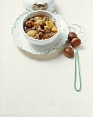 Zuppa d'oca (goose soup with chestnuts), Friuli, Italy