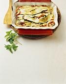 Parmigiana di zucchine (courgette bake), Campania, Italy