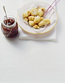 Ricotta fritta (Ricotta fritters with fig compote)