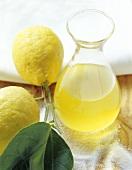 Limoncello (lemon liqueur), Sicily, Italy