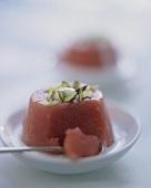 Gelo di anguria (cold watermelon dessert), Sicily, Italy
