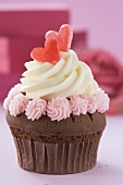 A cupcake for Valentine's Day