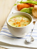 Cream of vegetable soup with carrots