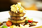 Tower of beef fillet and tortilla with sherry sauce