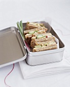 Sandwiches in a lunchbox