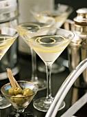 Wodka-Martini im Martiniglas