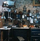 Eine rustikale Küche