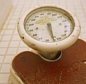 Old set of bathroom scales