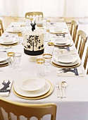 Table laid for special occasion