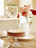 Cake on cake stand