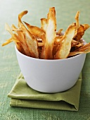 A bowl of parsnip crisps
