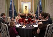 A festive family dinner