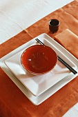 A Japanese place setting