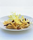 Dandelion salad with Parmesan rösti & caramelised asparagus