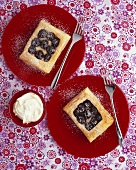 Cherry and almond tarts