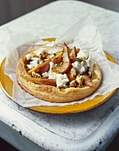 Pear tart with caramelised onion and blue cheese