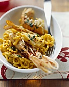 Scampi with pasta