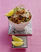 Spicy glass noodle and beef salad