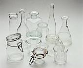 Assorted preserving jars and bottles