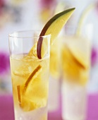 White wine sangria with exotic fruit