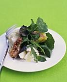Mozzarella ai fichi (Buffalo mozzarella with fresh figs)